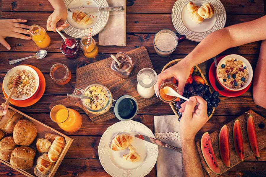 Foto colazione genuina, sana e nutriente